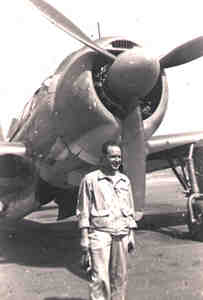 Lt(gj) Don Dondero with SB2C Helldiver