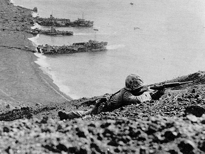 Marines Fighting on Iwo Jima