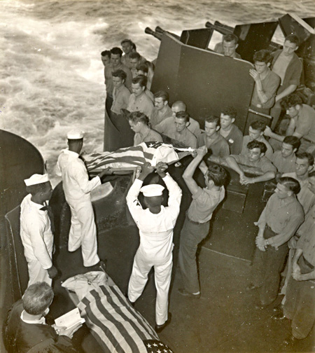Burial at Sea on USS Essex, November 25, 1944