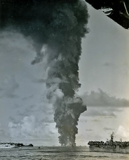 USS Mississinewa Explodes, 1944