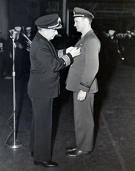 Lt(jg) Thomas Getting Air Medal, USS Ranger
