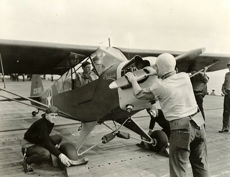 Piper Cub - Operation Torch, USS Ranger