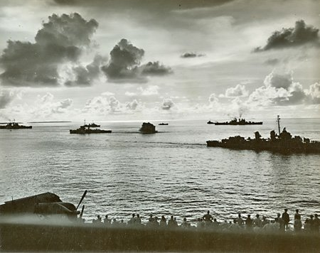 Dropping Depth Charges, Ulithi, 1944